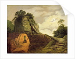 Virgil's Tomb by Moonlight with Silius Italicus by Joseph Wright of Derby