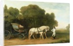 A Phaeton with a Pair of Cream Ponies in the Charge of a Stable-Lad by George Stubbs