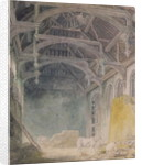 Interior of St. John's Palace, Eltham by Joseph Mallord William Turner