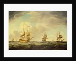 An English Flagship Under Easy Sail in a Moderate Breeze by Charles Brooking