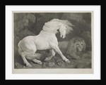 A Horse Affrighted by a Lion by George Stubbs