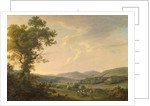 Landscape with Haymakers and a Distant View of a Georgian House by William Ashford