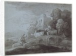 Wooded Landscape with Herdsman Driving Cattle by Thomas Gainsborough