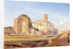 The Temple of Venus and Rome, Rome by Edward Lear