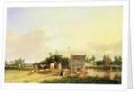 Buckenham Ferry on the River Yare, Norfolk by Joseph Stannard
