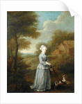 Miss Wood with her Dog by William Hogarth