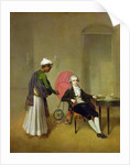 A Gentleman, possibly William Hickey, and his Indian Servant by Arthur Devis