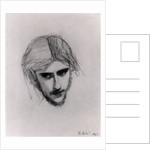 Study for the Head of Ferdinand for 'Ferdinand Lured by Ariel' by Sir John Everett Millais