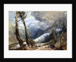 Mere de Glace, in the Valley of Chamouni, Switzerland by Joseph Mallord William Turner