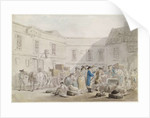 The Customs House at Boulogne by Thomas Rowlandson