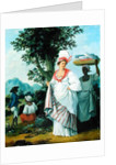 West Indian Creole Woman with her Black Servant by Agostino Brunias