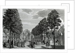 The Triumphal Arches, Handel's Statue in the South Walk of Vauxhall Gardens by Samuel Wale