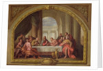 Sketch for 'The Last Supper', St. Mary's, Weymouth, formerly attributed to Antonio Verrio by Sir James Thornhill