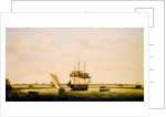 The Frigate 'Surprise' at Anchor off Great Yarmouth, Norfolk by Francis Holman