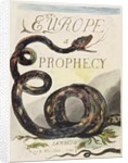 Title Page from 'Europe. A Prophecy' by William Blake