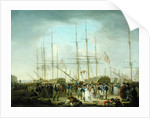 Hussars Embarking at Deptford by William Anderson