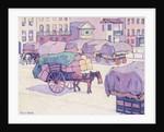 Hay Carts, Cumberland Market by Robert Polhill Bevan