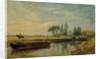 A Barge below Flatford Lock by John Constable