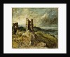 Sketch of Hadleigh Castle (recto) by John Constable