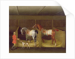 The Stables and Two Famous Running Horses belonging to His Grace, the Duke of Bolton by James Seymour