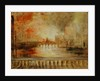 The Burning of the Houses of Parliament, previously attributed to J.M.W. Turner by English School