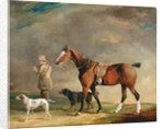 A Sportsman with Shooting Pony and Gun Dogs by Edwin W. Cooper