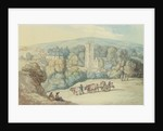 The Church and Village of St. Cue, Cornwall by Thomas Rowlandson