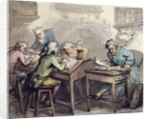 A Merchant's Office by Thomas Rowlandson