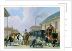 The Louth-London Royal Mail Travelling by Train from Peterborough East in December 1845 by James Pollard
