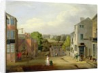 Street Scene in Chorley, Lancashire, with a View of Chorley Hall by John