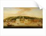 A View of Greenwich from the River with many Boats by Jan Griffier