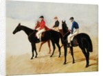 Study of Three Steeplechase Cracks: Allen McDonough on Brunette, Tom Oliver on Discount and Jem Mason on Lottery by John Frederick Herring Snr