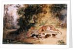 Winter in Polperro by Newton Fielding
