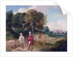 J. M. W. Turner and Walter Ramsden Fawkes at Farnley Hall by John Robert Wildman
