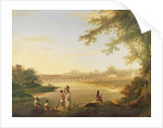 The Marmalong Bridge, with a Sepoy and Natives in the Foreground by William Hodges