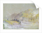 Foul by God: River Landscape with Anglers Fishing from a Weir by Joseph Mallord William Turner