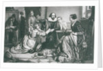 Shakespeare with his Family, at Stratford, Reciting the Tragedy Hamlet by Edouard Jean Conrad Hamman