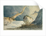Waterfall in a Desolate Landscape by John Sell Cotman