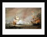 Sea Battle of the Anglo-Dutch Wars by Willem van de