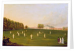 First Grand Match of cricket played by members of the Royal Amateur Society on Hampton Court Green by English School
