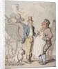 Slender Billy, Travellers taking refreshment by Thomas Rowlandson