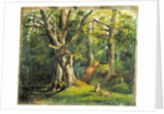 Woodland Scene with Rabbits by Sir Hubert von Herkomer