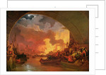 The Great Fire of London by Philip James de Loutherbourg