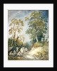 Wooded Landscape with Gypsy Encampment by Thomas Gainsborough