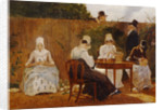The Chalon Family in their London Town Garden, early 1800s by Jacques-Laurent Agasse