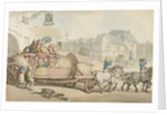 The Paris Diligence by Thomas Rowlandson