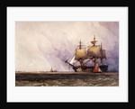 Coast Scene with Shipping by Charles Bentley