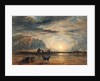 Beach Scene - Sunrise by David Cox