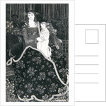 A large Christmas Card by Aubrey Beardsley