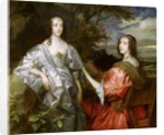 Katherine Countess of Chesterfield, and Lucy Countess of Huntingdon by Sir Anthony van Dyck